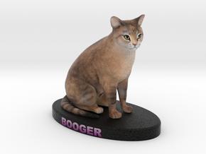 Custom Cat Figurine - Booger in Full Color Sandstone