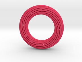 0162 Torus of Doubly Twisted Strips (p=1, d=5cm) in Pink Processed Versatile Plastic
