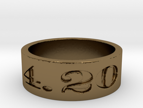 4.20 ring Ring Size 10 in Polished Bronze