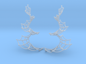 Spiral Spider Web Earrings in Smooth Fine Detail Plastic