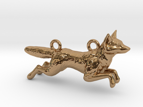 Jumping Fox in Polished Brass