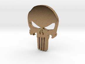 Punisher Pendant 25mm  in Natural Brass