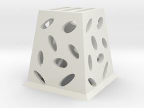 Planter (Square) - 3Dponics  in White Natural Versatile Plastic