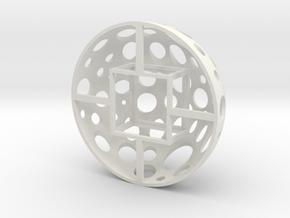 Grow Media Basket (Version 1) - 3Dponics in White Natural Versatile Plastic