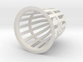 Planter (Round) - 3Dponics in White Natural Versatile Plastic