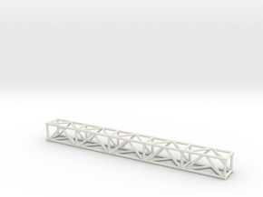 "10' 12""sq Box Truss 1:48 in White Natural Versatile Plastic"