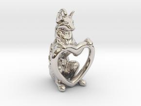 Fox Heart in Platinum