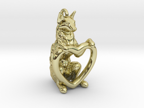 Fox Heart in 18k Gold