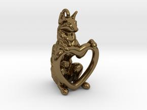Fox Heart in Polished Bronze