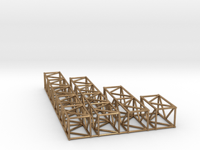 "16""sq Box Truss Sampler 1:48 in Natural Brass"