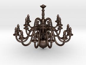 Chandelier  in Matte Bronze Steel