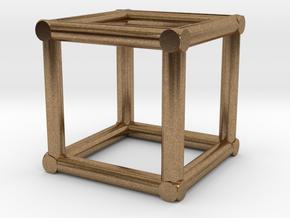 "12""sq Corner Box Truss 1:48  in Natural Brass"