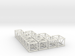 "20.5""sq Box Truss Sampler 1:48 in White Natural Versatile Plastic"