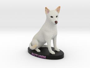 Custom Dog Figurine - Autumn in Full Color Sandstone