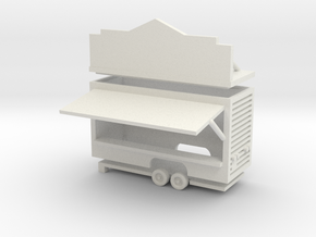 Gametrailer - 1:220 (Z scale) in White Natural Versatile Plastic