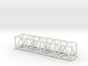 "8' 20.5"" Box Truss 1:48 in White Natural Versatile Plastic"