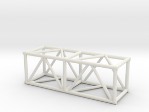 "5' 20.5""sq Box Truss 1:48 in White Natural Versatile Plastic"