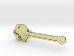 Gopro Screw Knob Wrench W/ KeyChain Loop in 18k Gold Plated Brass