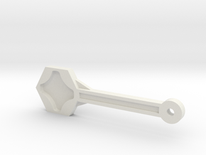 Gopro Screw Knob Wrench W/ KeyChain Loop in White Natural Versatile Plastic
