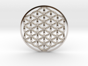 Flower Of Life (no bale)  in Platinum