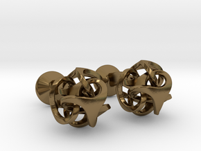 Ora by Bathsheba Cufflinks in Polished Bronze