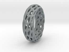 Trous Ring in Polished Metallic Plastic