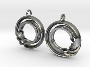 Ear-Rings-Fantasy-07 in Fine Detail Polished Silver