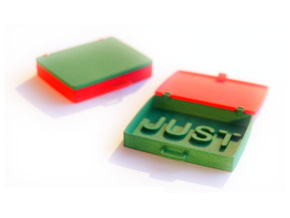 Just in Case in Red Processed Versatile Plastic