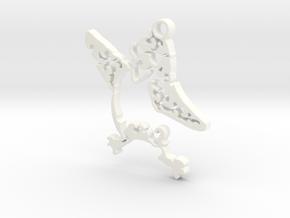 Cool Bird in White Processed Versatile Plastic