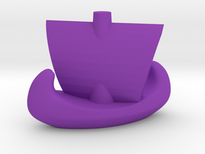 Catan Ship in Purple Strong & Flexible Polished