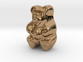 Gummy Bear Actual Size in Polished Brass