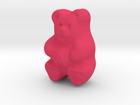 Gummy Bear Actual Size in Pink Processed Versatile Plastic