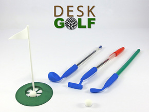 Desk Golf (BASIC SET) in White Processed Versatile Plastic