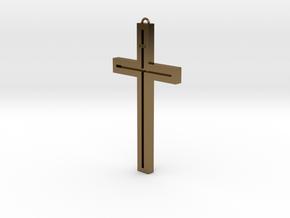 Modern Cross in Polished Bronze