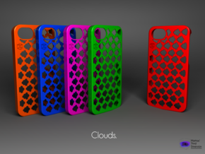 Iphone 5/5s case -  Clouds Pattern in Blue Processed Versatile Plastic