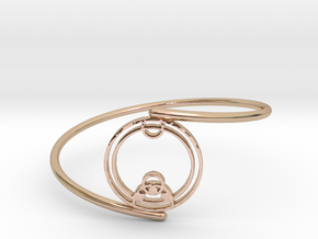 Zoe - Bracelet (Thin Spiral) in 14k Rose Gold Plated Brass