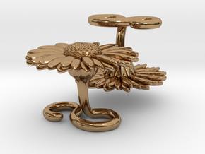 Daisy Daisy Cufflinks in Polished Brass