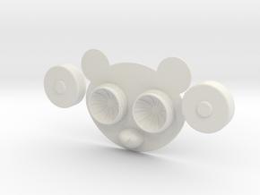 Panda Contact Lens Case in White Natural Versatile Plastic