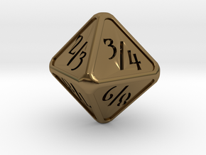 'Simple' D8 Tarmogoyf P/T balanced die in Polished Bronze