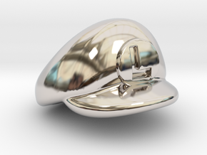 L-Plumber Cap in Rhodium Plated Brass