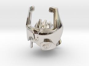 Imp Headpiece in Rhodium Plated Brass