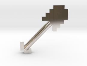 Mine Shovel in Rhodium Plated Brass