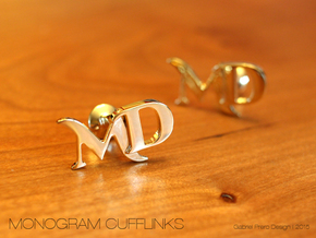 Monogram Cufflinks MD in 18k Gold Plated