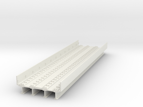 HO scale Elevated subway Philadelphia ADD SECTION  in White Natural Versatile Plastic
