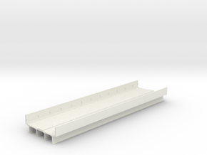 """HO scale Elevated subway Philadelphia ADD 12"""" SECT in White Natural Versatile Plastic"""