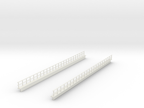 HO EL WEST PHILLY 12 SECTION RAILING in White Natural Versatile Plastic