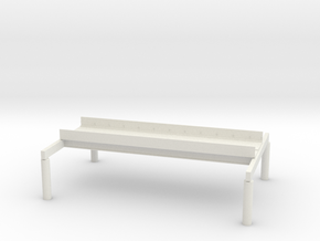 "HO Scale Elevated Subway Philadelphia 12"" inch SEC in White Natural Versatile Plastic"