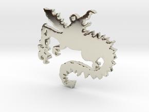 Dragon Necklace Pendant in 14k White Gold