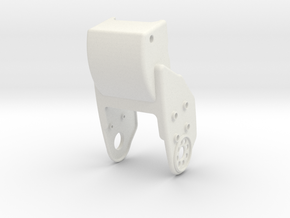 HR-OS1 Orion Right Tibia Armor in White Natural Versatile Plastic