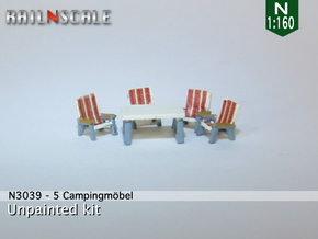 5 Campingmöbel (N 1:160) in Smooth Fine Detail Plastic